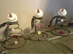 Rusty Bed Springs for Crafts Primitive Christmas, Christmas Snowman, Rustic Christmas, Winter Christmas, Christmas Ornaments, Christmas Bells, Christmas Trees, Snowman Crafts, Christmas Projects