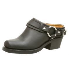 FRYE Women's Belted Harness Mule, Black, 9.5 M US ** Be sure to check out this awesome product.