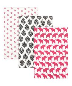 Look at this 46'' x 46'' Elephant Swaddle Blanket - Set of Three on #zulily today!