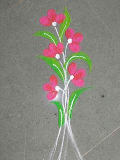New wall paper flowers design colour Ideas Very Easy Rangoli Designs, Colorful Rangoli Designs, Rangoli Designs Diwali, Kolam Rangoli, Flower Rangoli, Beautiful Rangoli Designs, Colour Rangoli, Rangoli Borders, Rangoli Border Designs