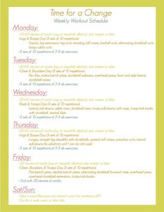 5 Days A Week Workout Plan // Easy to follow and really straightforward! More