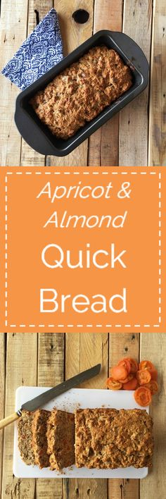 Apricot & Almond Quick Bread, whisk together the wet ingredients, add-in the dry and in minutes you've got dough in the oven, filling your kitchen with the delicious smell of homemade bread baking...