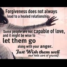 Sometimes it is easier to get on with life, easier to forgive, if you are entitled to move on and forget.