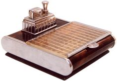 Ronson touch-tip lighter with cigarette case - 1940's