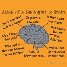 'Geologist Humor' Sticker by Gail Gabel, LLC - - 'Geologist Humor' Sticker by Gail Gabel, LLC Geology Geology Puns, Funny Science Jokes, Earth And Space Science, Life Science, Husband Humor, Mineralogy, Andromeda Galaxy, Gabel, Rock Collection