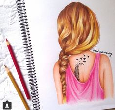 Incredible hair drawing