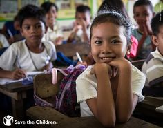 We're working with the IKEA Foundation and UNICEF to provide better school environments & quality education for children.  When you buy an IKEA soft toy, you can bring a smile to a child's face, like this young school girl from the Philippines.  She now has access to well-trained teachers.  For every soft toy sold in store, IKEA donates $1 to our education programs for children. #SoftToys4Education..