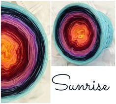 Sunrise: Hochbauschacryl 10 Farben: kanariengelb mandarin weinrot beere altrosa flieder mittelblau marine aqua eisblau