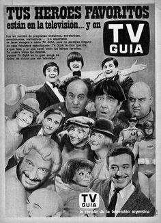 Publicidad revista TV GUIA, Argentina, década del 60.