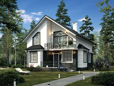 House Md, Tiny House, Chalet Style, Home Design Plans, Design Case, Living Room Designs, Beautiful Homes, Architecture Design, House Plans
