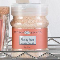 Artisan Salt Co. Murray River Australian Pink Flake Salt, 4 Ounce Jar - http://spicegrinder.biz/artisan-salt-co-murray-river-australian-pink-flake-salt-4-ounce-jar/