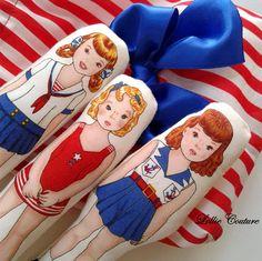 Dolls American girl girls birthday toddler set red white