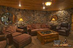 Lower Level Media Room of Golden Eagle's Ponderosa