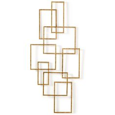 Home Design Studio Chainlink Wall Decor (5460 ALL) ❤ liked on Polyvore featuring home, home decor, decor, bronze and bronze home decor