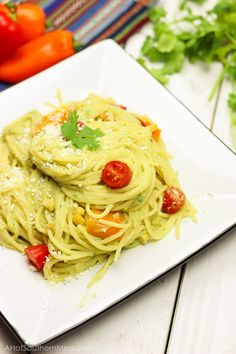 Skinny Spicy Gluten-Free Baja Pasta | A Hot Southern Mess