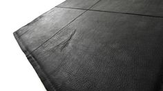 """Rug """"The pure soul"""", black lether by designers-living."""