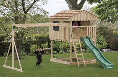 Backyard Playset Plans Playsets Plans For Free Backyard Backyard Playset Plans - sam ruger - Re-Wilding Backyard Playset, Backyard Playhouse, Build A Playhouse, Backyard Playground, Backyard For Kids, Playground Ideas, Backyard Ideas, Garden Ideas, Swing Set Plans