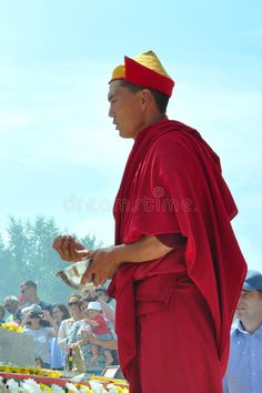Buddhist Monk At The Dedication Editorial Stock Photo - Image: 98581773