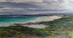 South from Eddystone Point, East Coast Tasmania. Watercolour. Melhillswildart