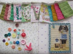 Fabric and crochet bunting
