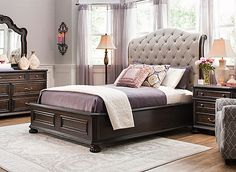 Elegance doesn't have to be reserved for formal occasions. With the Antonia 4-piece queen platform-look bedroom set, you can enjoy perfectly posh surroundings every single night. Each detail of this traditional set is simply gorgeous, from its ornate carvings to its marble inlays. The button-tufted headboard adds plenty of classic charm. Plus, the soft upholstery allows you to comfortably rest your head while reading or watching TV.