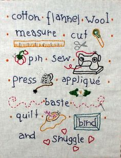 The Rooms of my Life: Stitchery ... so cute!