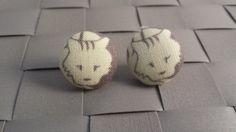Items similar to Sleepy Kitty Fabric Covered Button Post Earrings Inch] on Etsy Kittens Cutest, Ragdoll Kittens, Funny Kittens, Bengal Cats, Kitty Cats, Fabric Covered Button, Covered Buttons, Sleepy Kitty, Norwegian Forest Cat