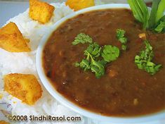 Daal - Another one of my favorite Indian dishes.  These lentils will take your breath away!  Mmmm..