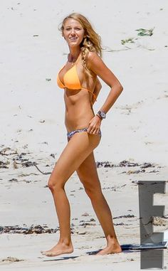 Beach Babe from Blake Lively Bares Her Bikini Body Shallows Set I hope to look half this good after giving birth!