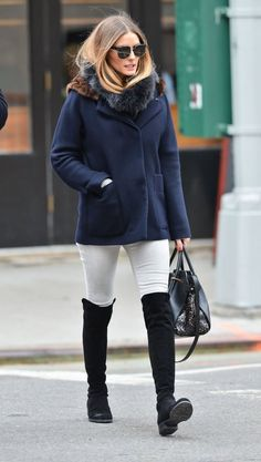 Olivia Palermo best role model for the casual but classic winter looks this year