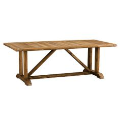 Rustic trestle dining table for french country farm style kitchen/dining