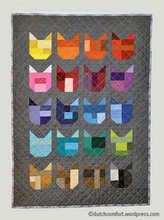Shot Cotton Cats Back in December I discovered a Catvent Quilt-along on Elizabeth Hartman's blog oh, Fransson! I absolutely wanted to make the quilt, but didn't get to it untill the last week of Fe…