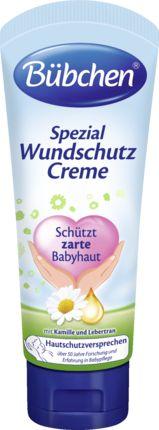 Zarte Babyhaut wird durch Bübchen Spezial Wundschutz Creme mit den Wirkstoffen Kamille und Lebertran geschützt. Rötungen werden gelindert und Reizungen...