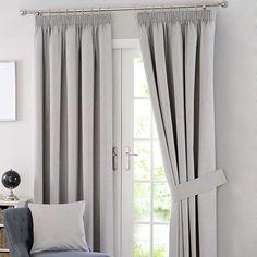 Solar Grey Blackout Pencil Pleat Curtains | Dunelm