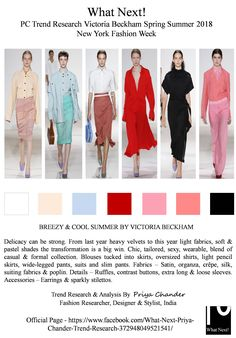 #VictoriaBeckham #fashion #SS18 #VictoriaBeckhamSS18 #NYFW #Calvinkleinss18 #pastelcolors #womenswear ##Americancinema #fashionindustry #RTW #fashionweek #womensfashion #menswear #fashionforecast #fashionforward #fashionblogger #pantone #fashionresearch #priyachander #Lilac #pencilskirts #skirts #WhatNextPriyaChanderTrendResearch #fashionweekanalysis