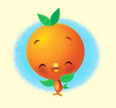 Kawaii Orange Bird - by Jerrod Maruyama