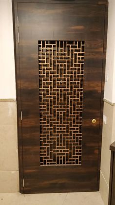 By workz services llp Main Entrance Door Design, Wooden Main Door Design, Home Entrance Decor, Modern Wooden Doors, Door Gate Design, Door Design Interior, Bedroom Furniture Design, Bedroom Door Design, Furniture Projects