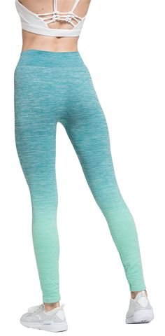30e6c380f2 sel sobek Womens Sports Tights Yoga Pants Performance Active Exercise  Gradient Color Workout Leggings For Dancing