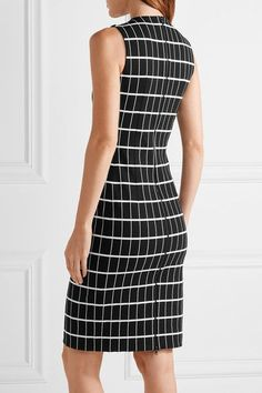 Narciso Rodriguez - Printed Stretch-cotton Dress - Black