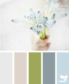 Gathered Tones // Image And Palette Via Design Seeds; For Bedrooms? Minus  That Green Ick