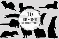 Ermine Silhouettes Clipart Clip Art Ermine Branch Clip Art