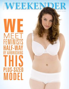 We Meet Feminists Halfway By Airbrushing This Plus-Size Model