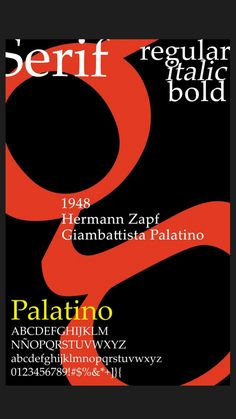 Palatino Typography