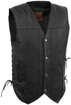 Special Offers - True Element Mens 10 Pocket Traditional Motorcycle Leather Vest (Black Medium) - In stock & Free Shipping. You can save more money! Check It (June 11 2016 at 06:25AM) >> http://bestsportbikejacket.com/true-element-mens-10-pocket-traditional-motorcycle-leather-vest-black-medium/