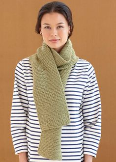Free Knitting Pattern for Beginners: Jadeite Green Scarf