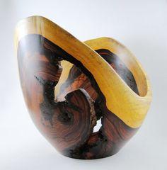 Wood Bowl No130405  Cocobolo Natural Edge by conreysa on Etsy, $170.00