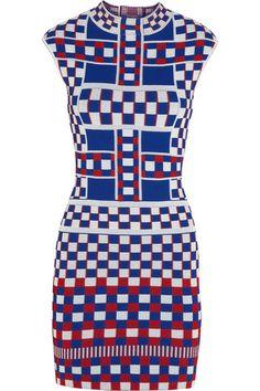 Alexander McQueen Stretch-knit jacquard dress