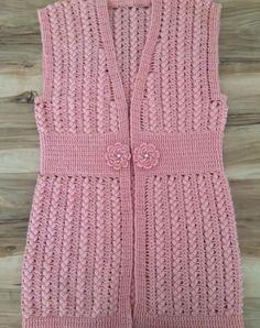 36 Women& Vest Knitting Models You Will Want to Knit Now - Yiğit ve Yavuz Chevron Crochet Patterns, Baby Knitting Patterns, Cardigans For Women, Jackets For Women, Dame, Cardigan Bebe, Poncho Shawl, Crochet Jacket, Baby Sweaters