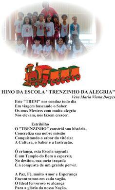 """Vera Maria Viana Borges: HINO DA ESCOLA """"TRENZINHO DA ALEGRIA"""" - Letra e Mú..."""