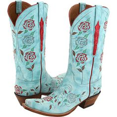 Lucchese boots...wish I had $750 and a cute halter dress laying around to wear them with!
